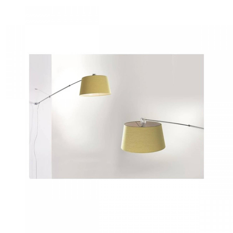 Lampade Da Parete Con Braccio lampada da parete con paralume e struttura in alluminio satinato e inserti  cromati, totalmente regolabile, 1 luce 150w ( e27 )