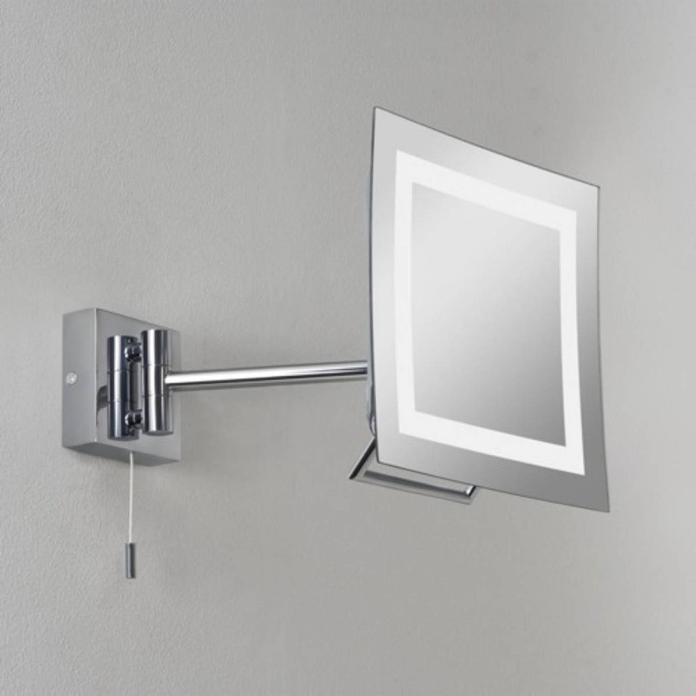 Elegante Specchio Di Forma Quadrata Con Sistema Di Illuminazione