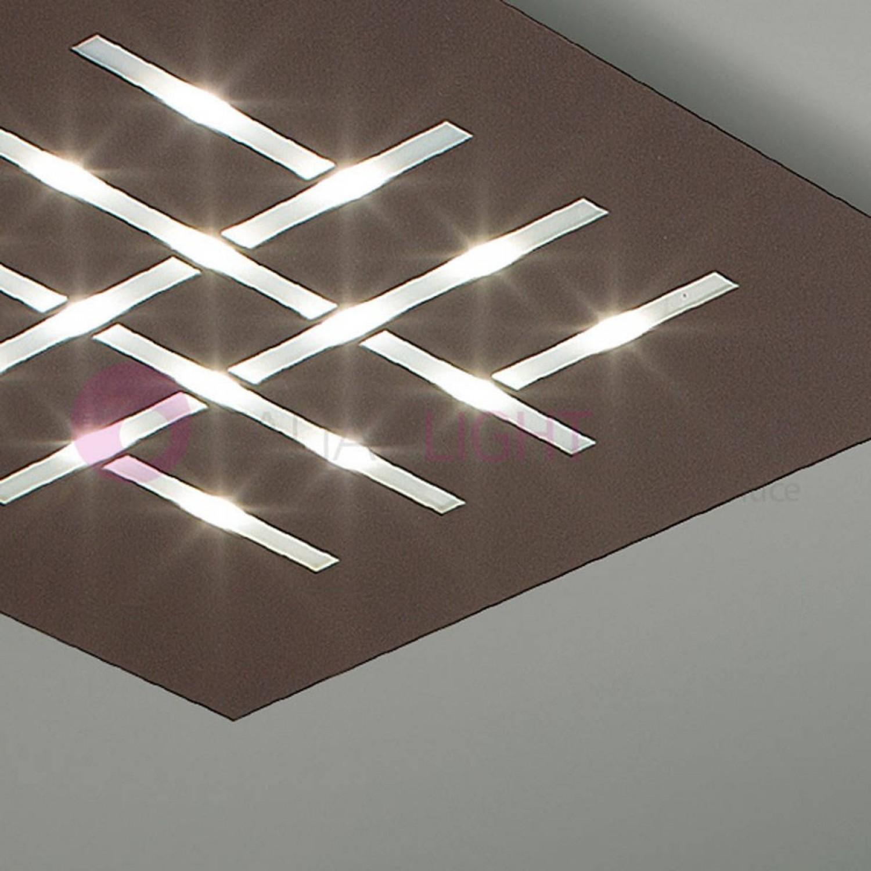 Plafoniera Moderna Soffitto.Plafoniera Moderna Da Soffito Quadrata Con Luce A Led 35w In Diverse Colorazioni