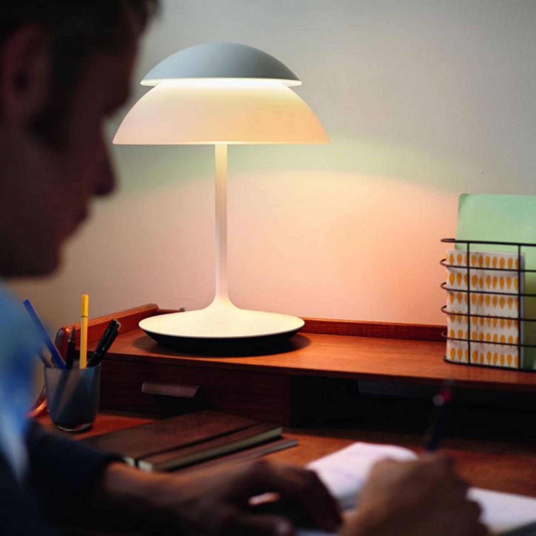 Philips Lampada Da Tavolo Modello Beyond 915004505501 In Policarbonato Con Luce A Led 9w Rgb Dimmerabile Tramite Accessorio Optional Con Finitura Di Colore Bianco Pierlux Illuminazione