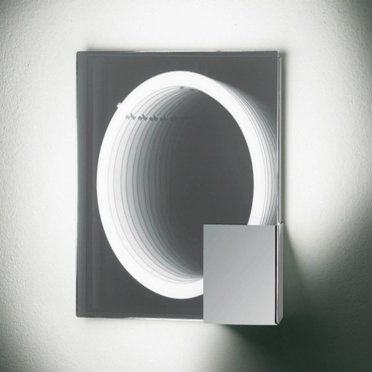 Lampade Al Neon Da Parete leucos lampada da parete effetto specchio modello optik, 1 punto luce a  neon 55w (2gx13)